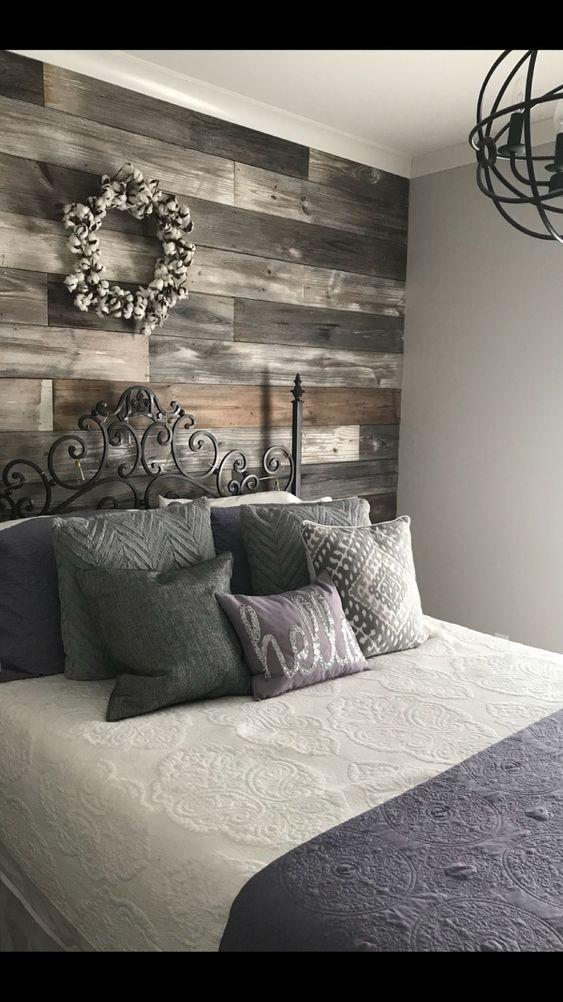 beadboard accent wall bedroom photo - 1