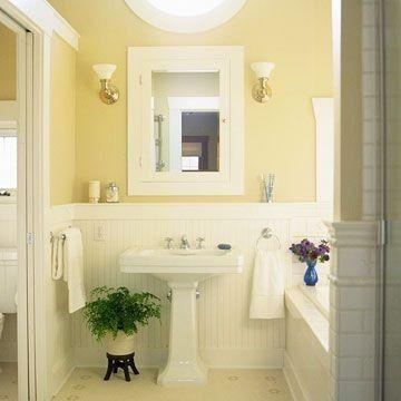 bathrooms with beadboard wainscoting photo - 1