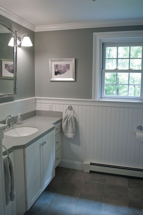 painted wainscoting bathroom photo - 1