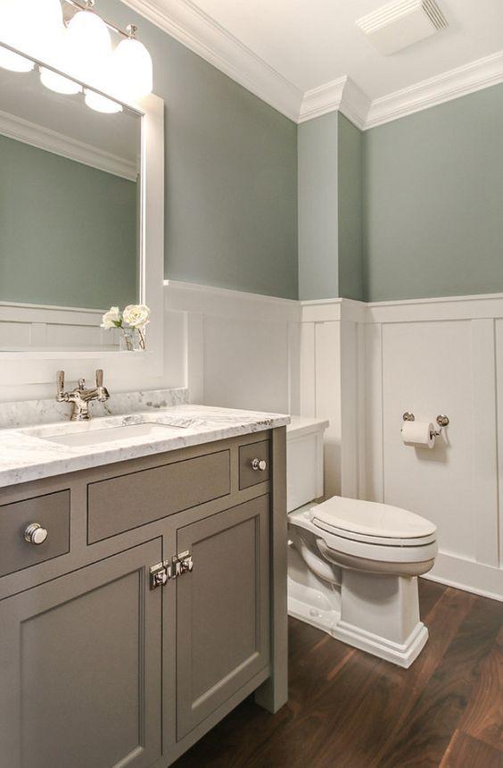 small bathroom wainscoting ideas photo - 1