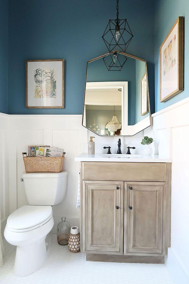 modern beadboard bathroom photo - 1