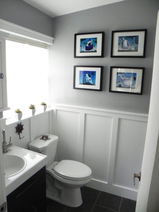 wainscoting styles bathroom photo - 1