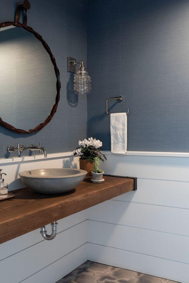 grey wainscoting bathroom photo - 1