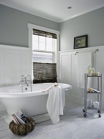 bathrooms with beadboard and tile photo - 1
