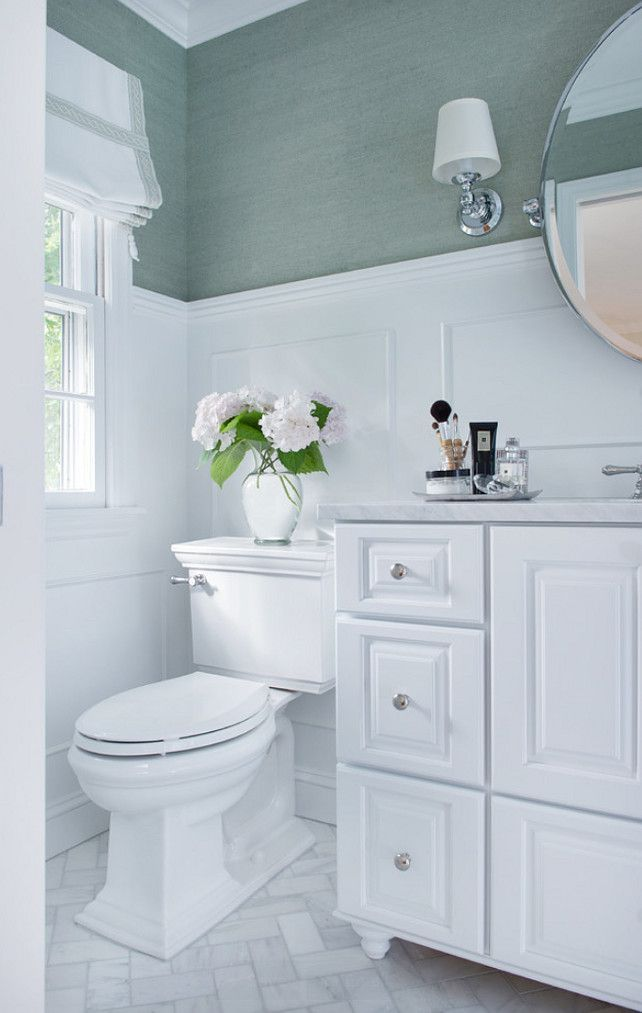 small bathroom ideas with wainscoting photo - 1
