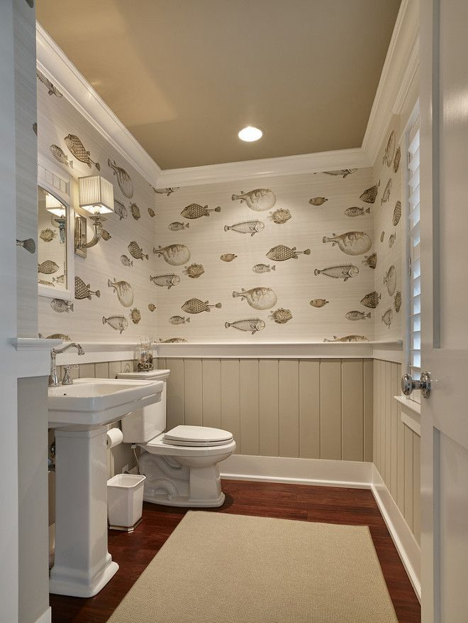 wainscoting in bathroom images photo - 1