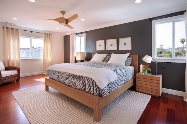 accent wall in bedroom photo - 1