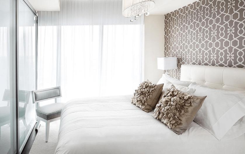 accent wallpaper bedroom photo - 2