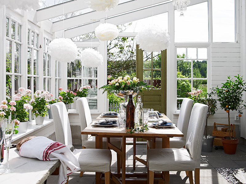 all white dining room photo - 2