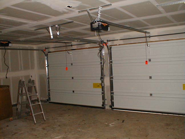 automatic garage door opener installation large and