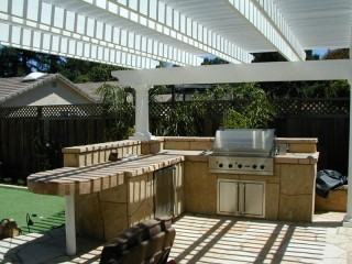 Bbq Design Ideas pop a wood structure over to give it a space of its own outdoor grilling area pinterest outdoor kitchens outdoor and cream stone Fa3d6f634c8bc2649166598ce2bf5bda