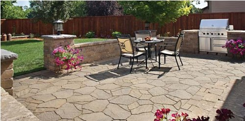 backyard cement patio ideas photo - 1
