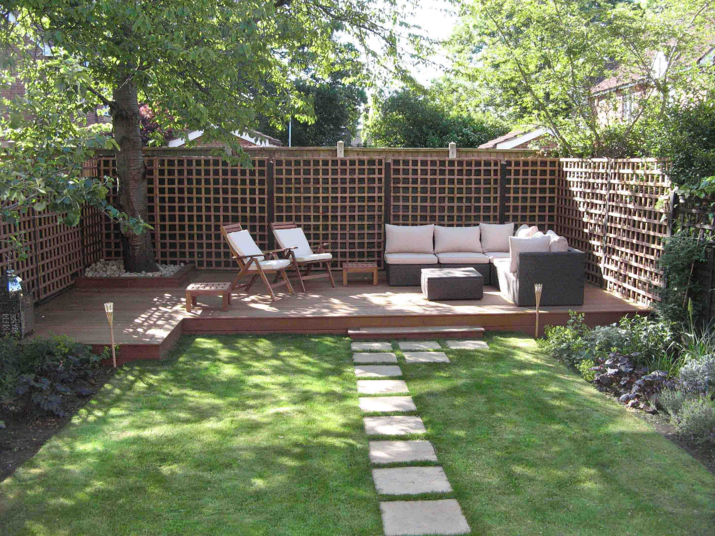 backyard patio ideas cheap backyard patio deck ideas - Narrow Backyard Design Ideas