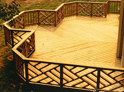 backyard deck design photo - 1