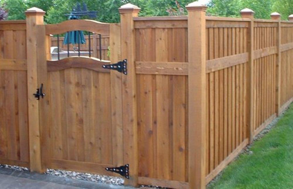 backyard fence styles photo - 1