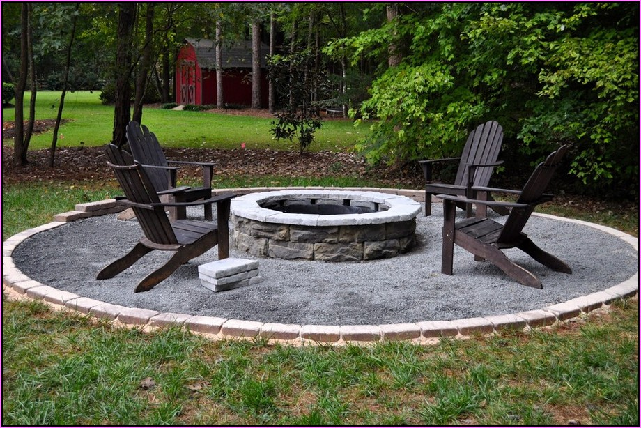 backyard fire pit landscaping ideas photo - 1