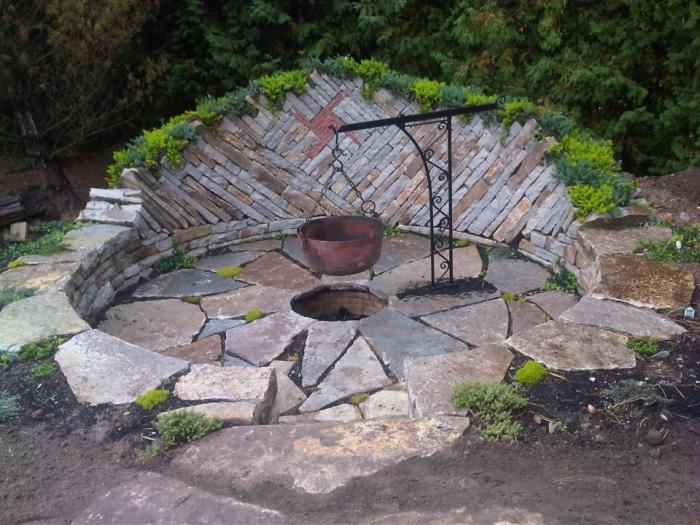 backyard fire pits designs photo - 1
