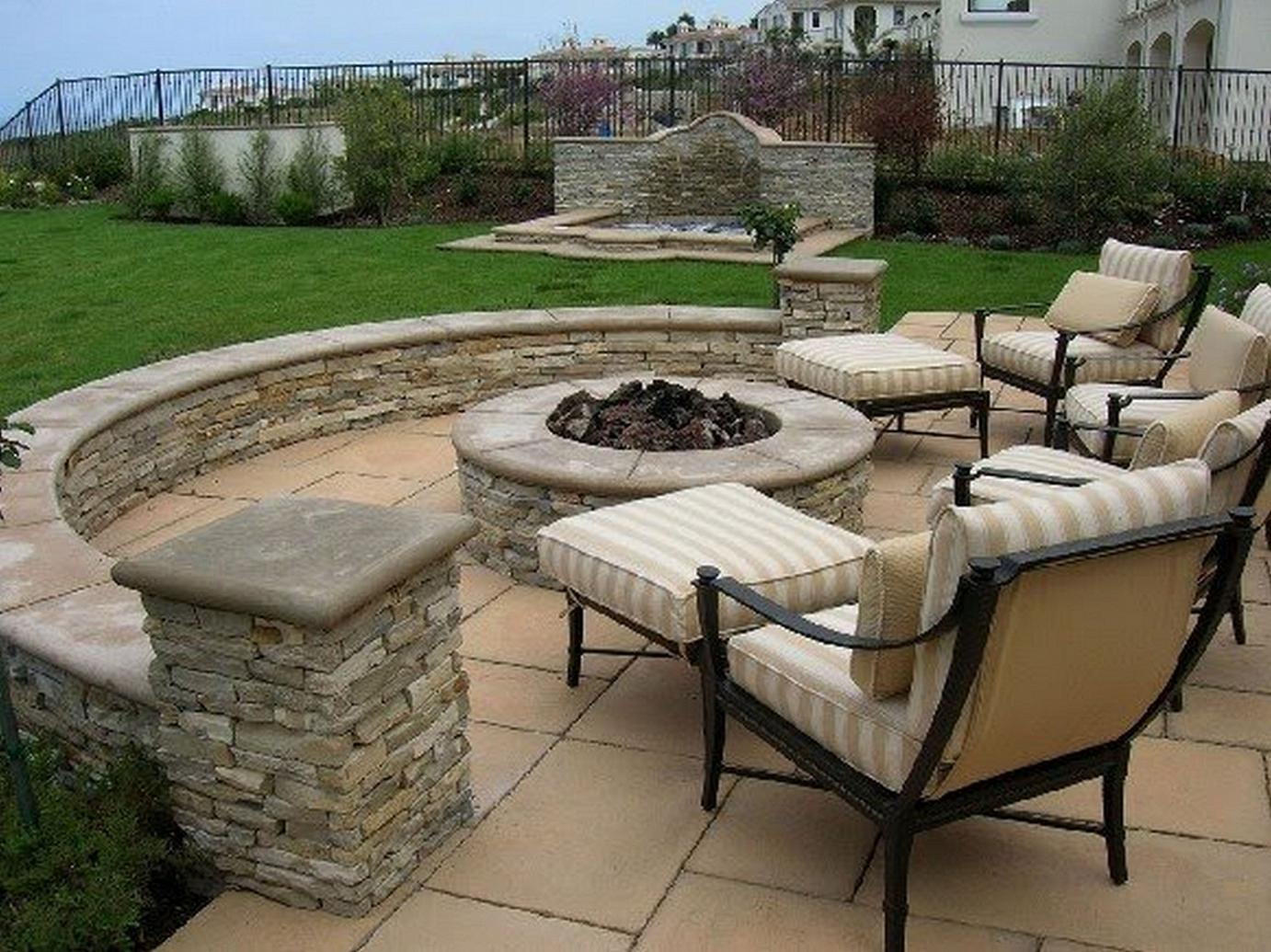 Backyard firepit ideas large and beautiful photos photo for Pictures of patio ideas
