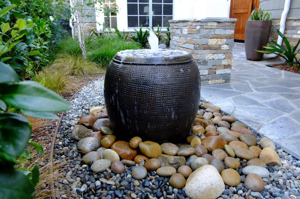 backyard fountains and waterfalls photo - 1