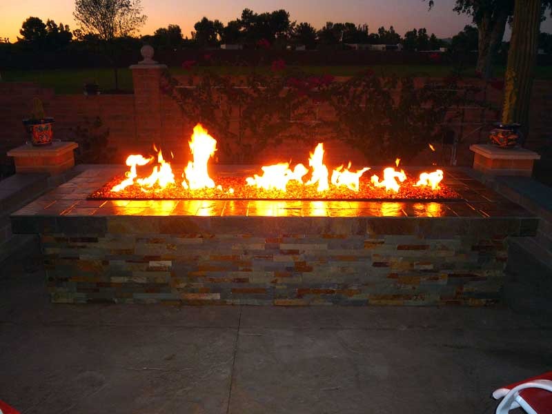 backyard gas fire pit photo - 1