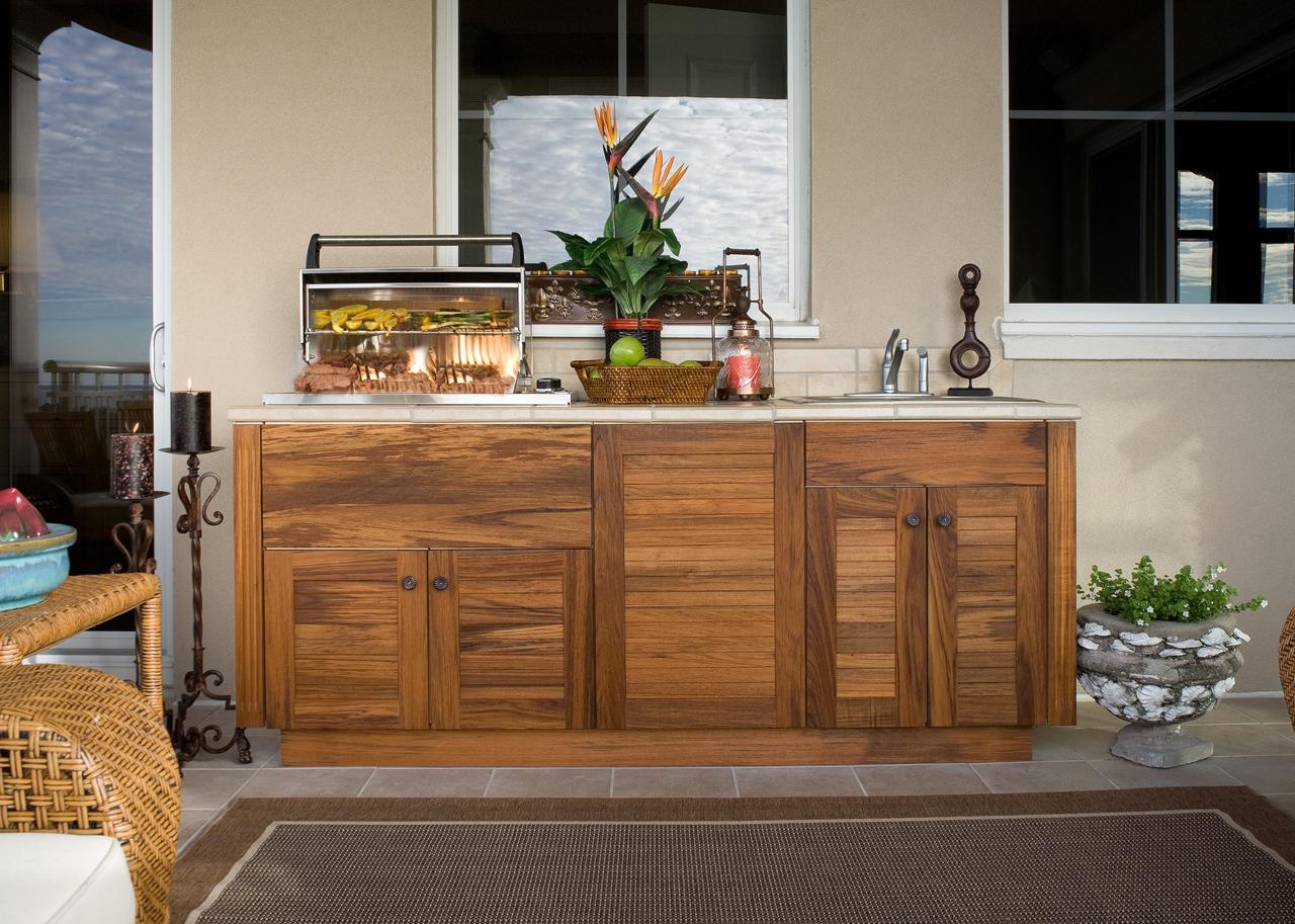 backyard kitchen plans photo - 1