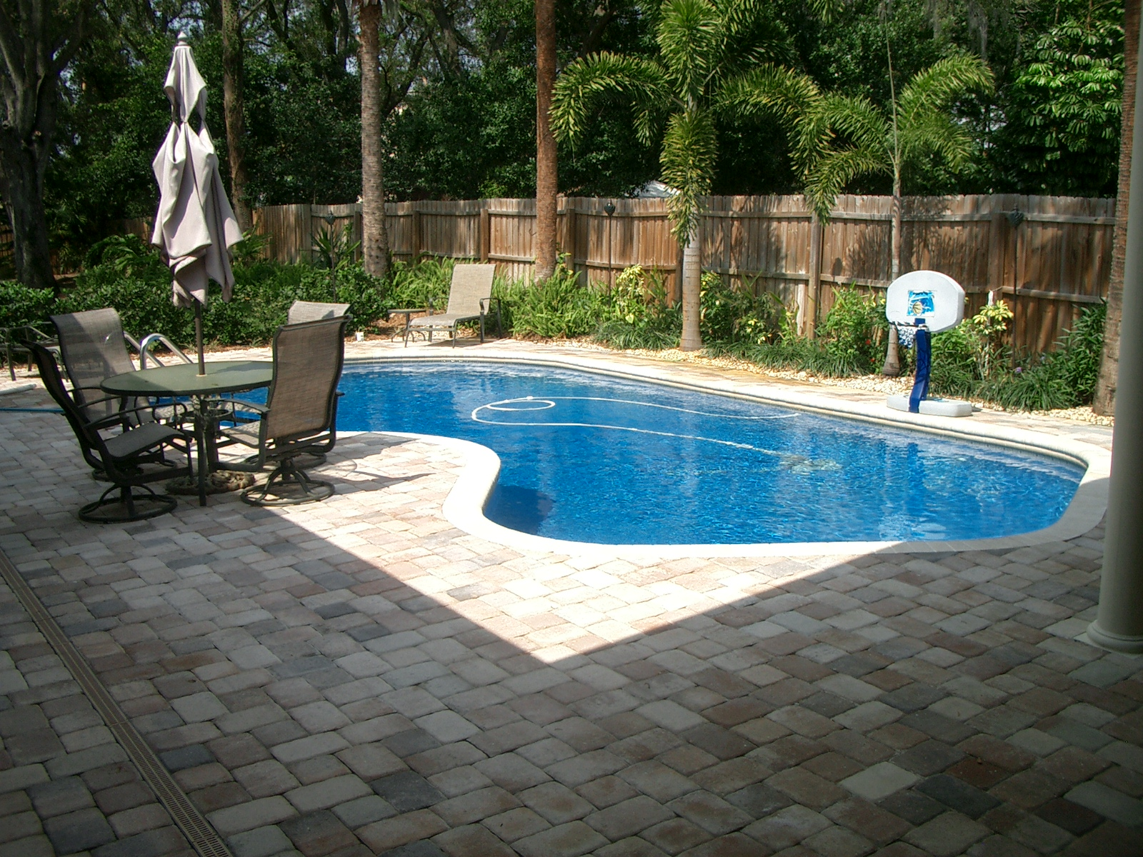 backyard landscaping with pool photo - 1