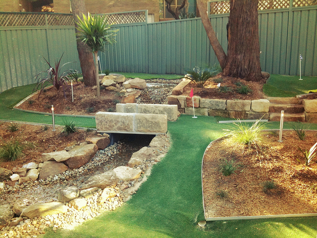 backyard miniature golf course photo - 1