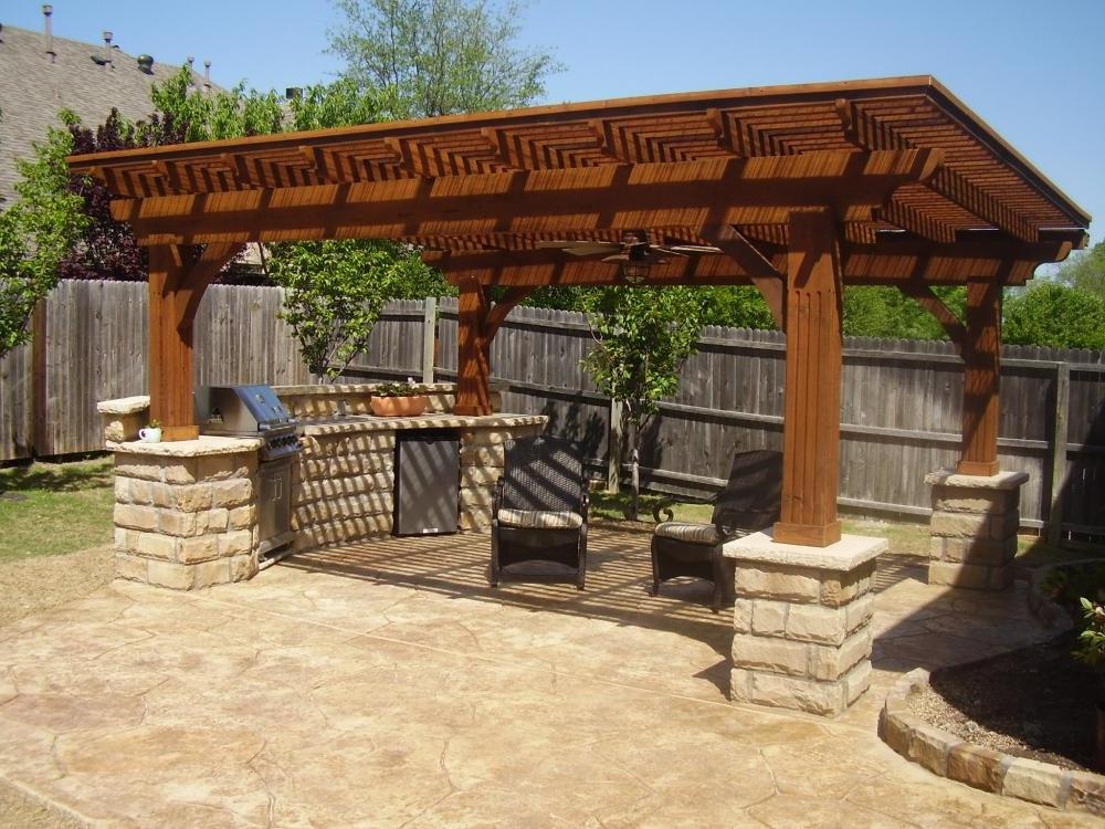 Backyard patio cover ideas - large and beautiful photos. Photo to ...
