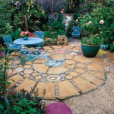 backyard patio landscaping photo - 1