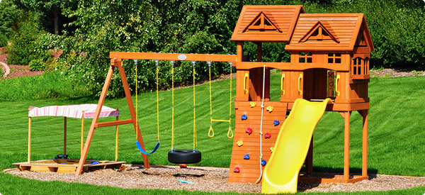 backyard playground design photo - 1