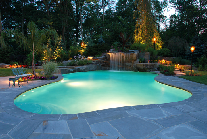 backyard pool design photo - 1