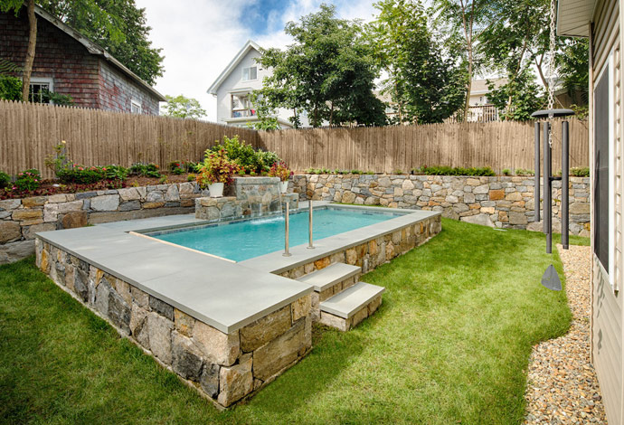 Backyard pool designs landscaping pools - large and beautiful photos ...