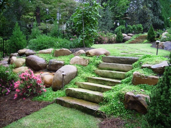 backyard rock garden photo - 1