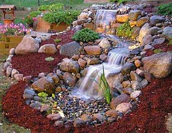 Superb Backyard Rock Waterfalls Photo   1