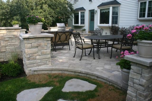 backyard stone patio photo - 2