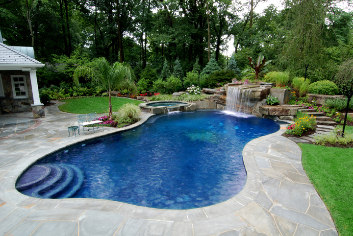 backyard swimming pool photo - 2