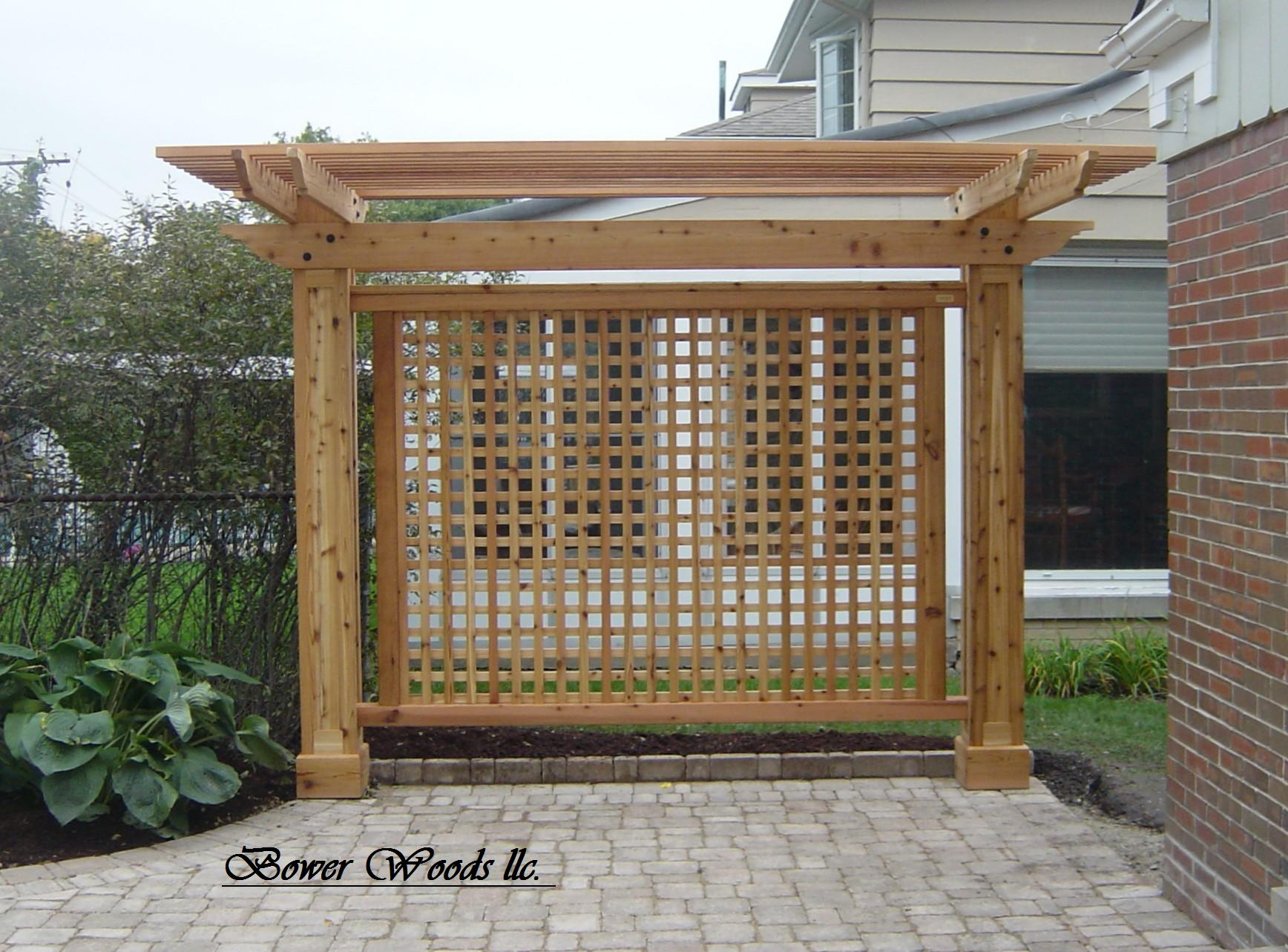 backyard trellis ideas photo - 1