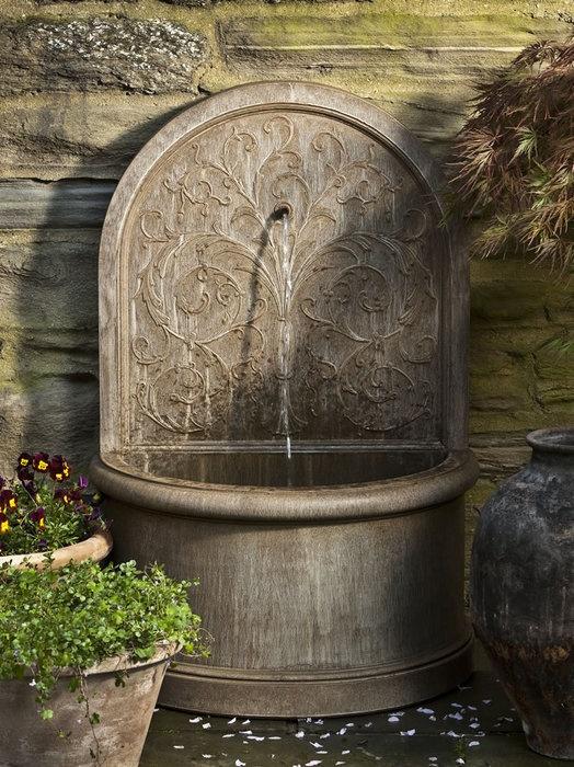 backyard wall fountains photo - 1