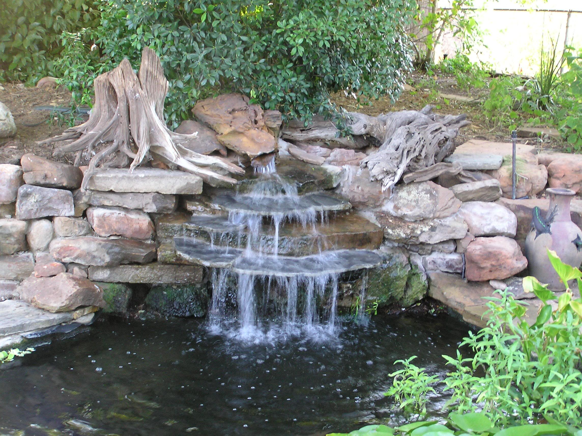 backyard waterfall ideas photo - 1