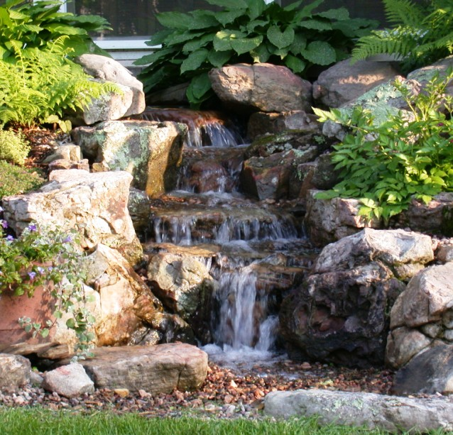 backyard waterfall pictures photo - 1