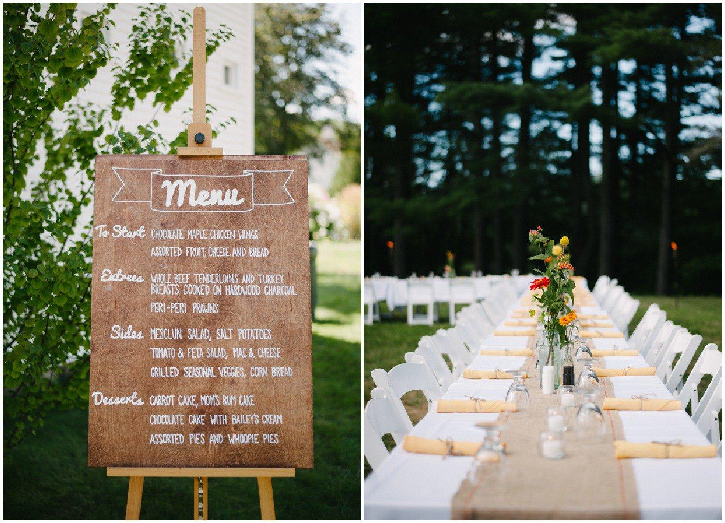 backyard wedding decor photo - 1
