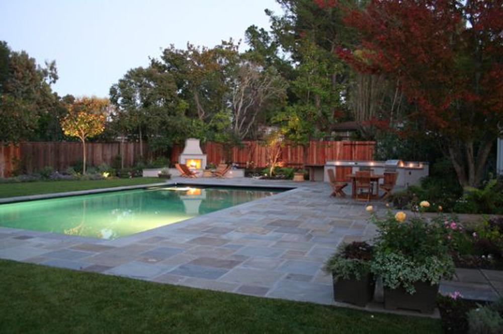 backyard with pool photo - 2