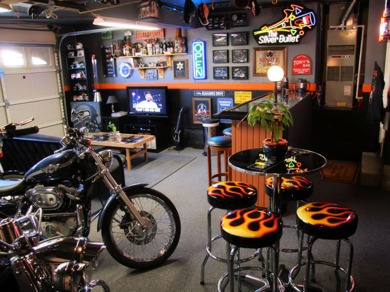 bar ideas for garage photo - 2