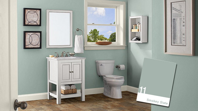 Paint Colors For Bathrooms Fascinating Bathroom Color Schemes For Small Bathrooms  Large And Beautiful . Review