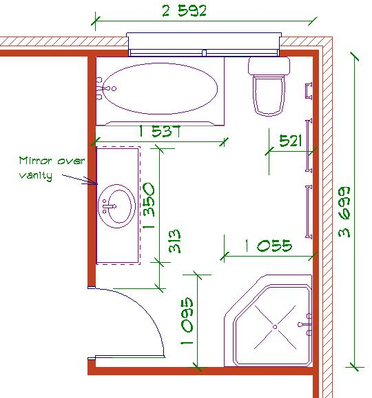 bathroom design layout photo - 1