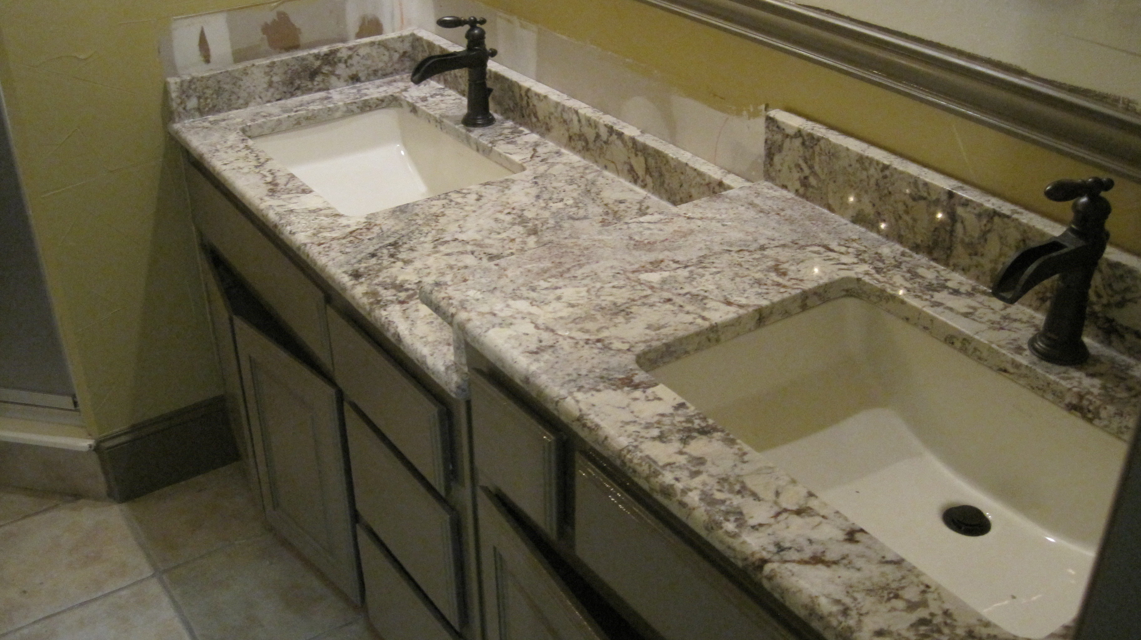 counter countertop granite countertops bathroom