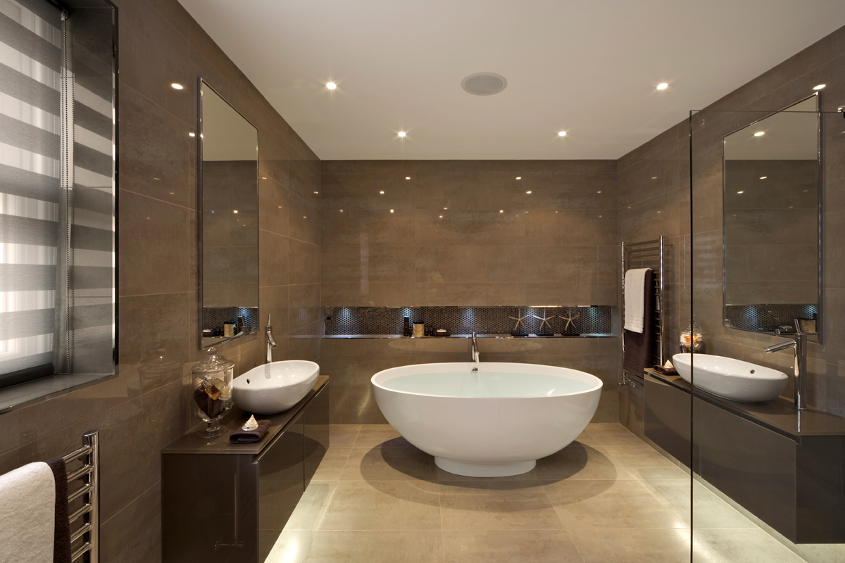 bathroom mirror ideas on wall photo - 1