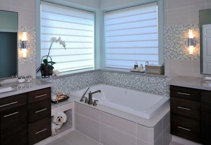 bathroom window treatment photo - 1