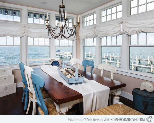 beach themed dining room furniture photo - 2