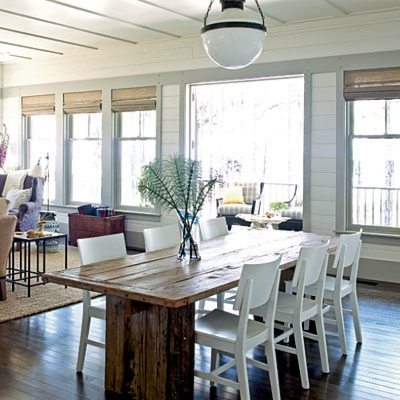 beachy dining room tables photo - 2
